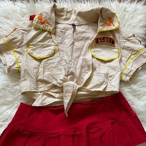 Women's small/med Girl Scout costume